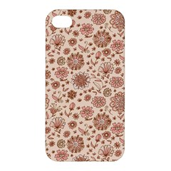 Retro Sketchy Floral Patterns Apple iPhone 4/4S Hardshell Case