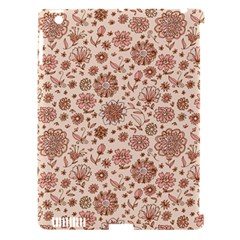 Retro Sketchy Floral Patterns Apple iPad 3/4 Hardshell Case (Compatible with Smart Cover)