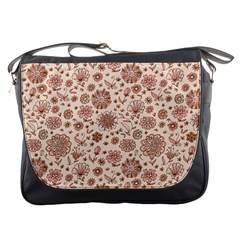 Retro Sketchy Floral Patterns Messenger Bags