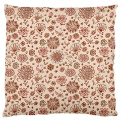 Retro Sketchy Floral Patterns Large Cushion Case (One Side)