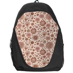 Retro Sketchy Floral Patterns Backpack Bag