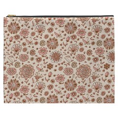 Retro Sketchy Floral Patterns Cosmetic Bag (XXXL)