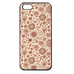 Retro Sketchy Floral Patterns Apple iPhone 5 Seamless Case (Black)