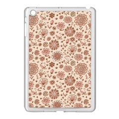 Retro Sketchy Floral Patterns Apple iPad Mini Case (White)
