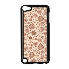 Retro Sketchy Floral Patterns Apple iPod Touch 5 Case (Black)