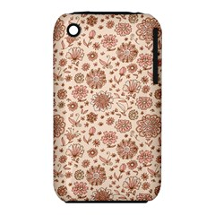 Retro Sketchy Floral Patterns iPhone 3S/3GS