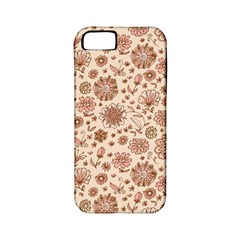 Retro Sketchy Floral Patterns Apple iPhone 5 Classic Hardshell Case (PC+Silicone)