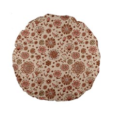 Retro Sketchy Floral Patterns Standard 15  Premium Round Cushions