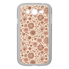 Retro Sketchy Floral Patterns Samsung Galaxy Grand DUOS I9082 Case (White)