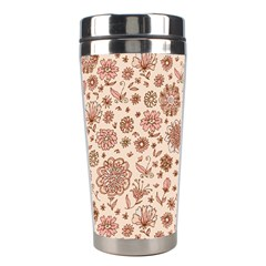 Retro Sketchy Floral Patterns Stainless Steel Travel Tumblers