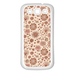 Retro Sketchy Floral Patterns Samsung Galaxy S3 Back Case (White)