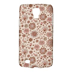 Retro Sketchy Floral Patterns Galaxy S4 Active