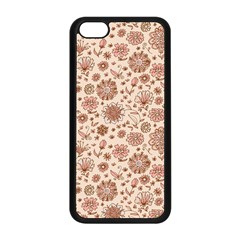 Retro Sketchy Floral Patterns Apple iPhone 5C Seamless Case (Black)