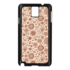 Retro Sketchy Floral Patterns Samsung Galaxy Note 3 N9005 Case (Black)