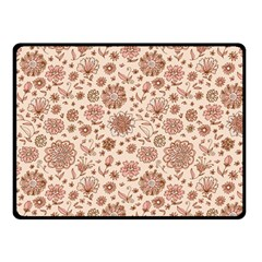 Retro Sketchy Floral Patterns Double Sided Fleece Blanket (Small)