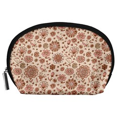 Retro Sketchy Floral Patterns Accessory Pouches (Large)