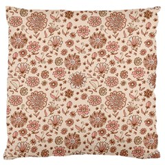 Retro Sketchy Floral Patterns Large Flano Cushion Case (One Side)