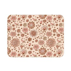 Retro Sketchy Floral Patterns Double Sided Flano Blanket (Mini)
