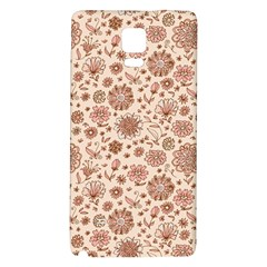 Retro Sketchy Floral Patterns Galaxy Note 4 Back Case