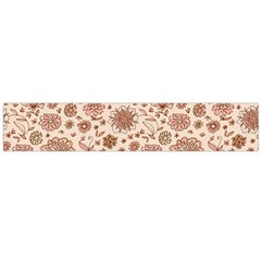 Retro Sketchy Floral Patterns Flano Scarf (Large)