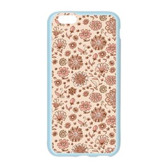 Retro Sketchy Floral Patterns Apple Seamless iPhone 6/6S Case (Color)