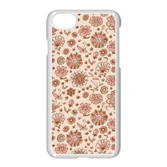 Retro Sketchy Floral Patterns Apple Iphone 7 Seamless Case (white)