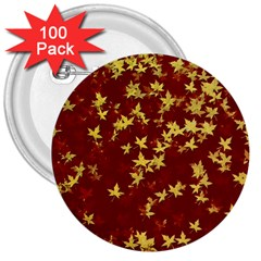 Background Design Leaves Pattern 3  Buttons (100 Pack)