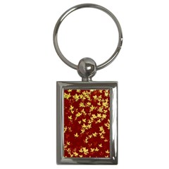 Background Design Leaves Pattern Key Chains (Rectangle)