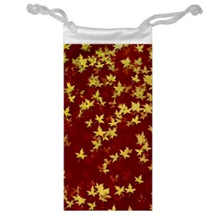 Background Design Leaves Pattern Jewelry Bag
