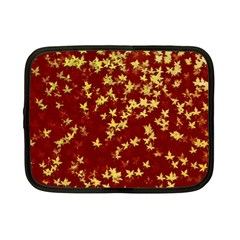 Background Design Leaves Pattern Netbook Case (small)