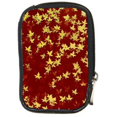 Background Design Leaves Pattern Compact Camera Cases