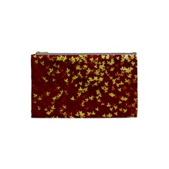 Background Design Leaves Pattern Cosmetic Bag (Small)