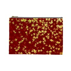 Background Design Leaves Pattern Cosmetic Bag (Large)