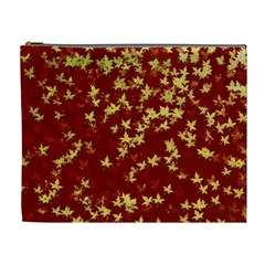 Background Design Leaves Pattern Cosmetic Bag (xl)