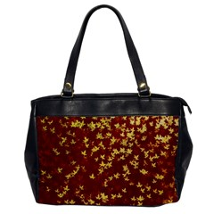 Background Design Leaves Pattern Office Handbags