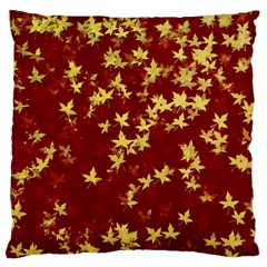 Background Design Leaves Pattern Large Cushion Case (Two Sides)