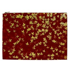 Background Design Leaves Pattern Cosmetic Bag (XXL)
