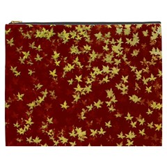 Background Design Leaves Pattern Cosmetic Bag (XXXL)