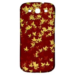 Background Design Leaves Pattern Samsung Galaxy S3 S III Classic Hardshell Back Case