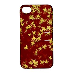 Background Design Leaves Pattern Apple iPhone 4/4S Hardshell Case with Stand