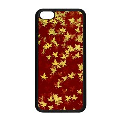 Background Design Leaves Pattern Apple Iphone 5c Seamless Case (black)