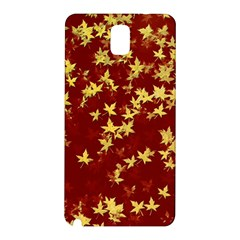 Background Design Leaves Pattern Samsung Galaxy Note 3 N9005 Hardshell Back Case