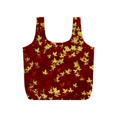 Background Design Leaves Pattern Full Print Recycle Bags (S)