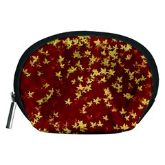 Background Design Leaves Pattern Accessory Pouches (Medium)