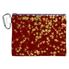 Background Design Leaves Pattern Canvas Cosmetic Bag (XXL)