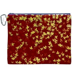 Background Design Leaves Pattern Canvas Cosmetic Bag (xxxl)
