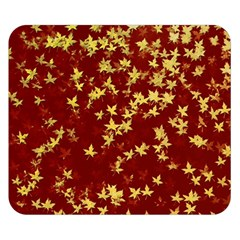Background Design Leaves Pattern Double Sided Flano Blanket (Small)