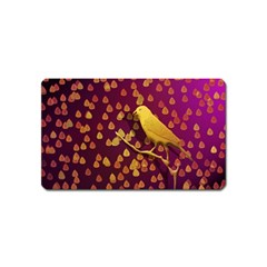 Bird Design Wall Golden Color Magnet (name Card)
