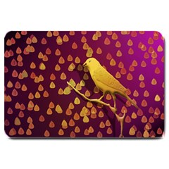 Bird Design Wall Golden Color Large Doormat