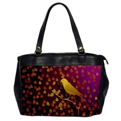 Bird Design Wall Golden Color Office Handbags